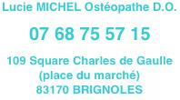 Lucie MICHEL Ostéopathe BRIGNOLES